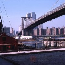 Image of [construction at the pier at Fulton Ferry Landing] - DUMBO, Brooklyn waterfront photographs and slides