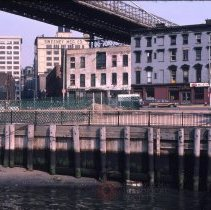 Image of [View looking northeast from Fulton Ferry Landing] - DUMBO, Brooklyn waterfront photographs and slides