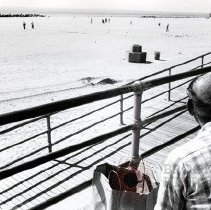 Image of [Man on the Coney Island boardwalk] - Anders Goldfarb photographs of Coney Island