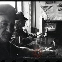 Image of [Pasqualle at Ruby's Bar watching the 1984 World Series] - Anders Goldfarb photographs of Coney Island