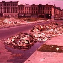 Image of [Garbage in the street] - 1977 Blackout Slide collection