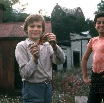 Image of [Boys with butterfly] - Lucille Fornasieri Gold photographs