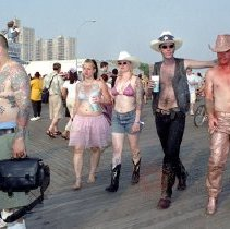 Image of [Mermaid parade attendees] - Lucille Fornasieri Gold photographs