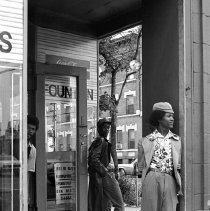 Image of [Standing outside candy store] - Lucille Fornasieri Gold photographs