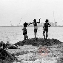 Image of [Three women at the beach] - Lucille Fornasieri Gold photographs