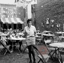 Image of [Outdoor restaurant in Little Italy] - Lucille Fornasieri Gold photographs