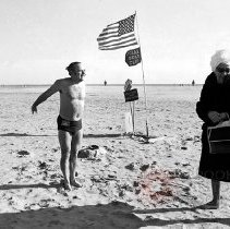 Image of [Polar Bear Club member at Coney Island] - Lucille Fornasieri Gold photographs