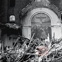 Image of [42nd Street church demolition] - Lucille Fornasieri Gold photographs