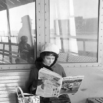 Image of [Staten Island Ferry reader] - Lucille Fornasieri Gold photographs