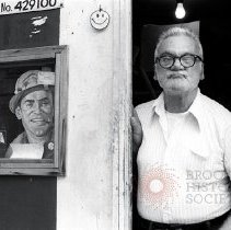 Image of [Man at garage] - Lucille Fornasieri Gold photographs