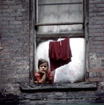 Image of [Girl in window] - Lucille Fornasieri Gold photographs