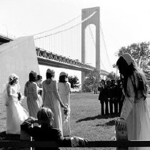 Image of [Verrazano Bridge wedding] - Lucille Fornasieri Gold photographs
