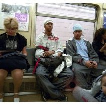 Image of [Subway passengers] - Lucille Fornasieri Gold photographs