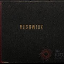 """Image of """"Bushwick and her neighbors, Volume 1"""" cover - Eugene L. Armbruster photographs and scrapbooks"""