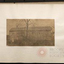 Image of [Newspaper clipping of the side of one Devoe Houses or school house?] - Eugene L. Armbruster photographs and scrapbooks