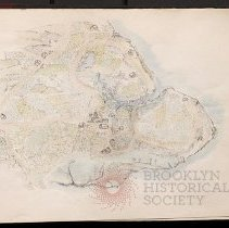 Image of [Drawing of pastoral Bushwick] - Eugene L. Armbruster photographs and scrapbooks