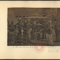 Image of The Kimbo [or Krinbo?] + Hindoo Stick Dance at Luna Park 1903  - Eugene L. Armbruster photographs and scrapbooks