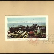 Image of Balmer's Bathing Pavillion and Iron Pier, Coney Island  - Eugene L. Armbruster photographs and scrapbooks