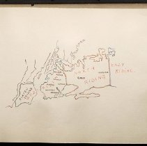 Image of [Map of Staten Island and Long Island with riding borders] - Eugene L. Armbruster photographs and scrapbooks