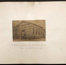 Image of Bedford Avenue Pentecostal Church corner South 3rd Street - Eugene L. Armbruster photographs and scrapbooks
