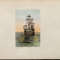 Image of [Lighthouse in Cold Spring Harbor] - Eugene L. Armbruster photographs and scrapbooks