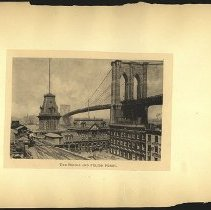 Image of The Bridge and Fulton Ferry - Eugene L. Armbruster photographs and scrapbooks