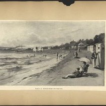 Image of Beach at Bensonhurt-By-The-Sea  - Eugene L. Armbruster photographs and scrapbooks