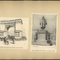 Image of [Soldiers' and Sailors' Arch and statue of Henry Ward Beecher] - Eugene L. Armbruster photographs and scrapbooks