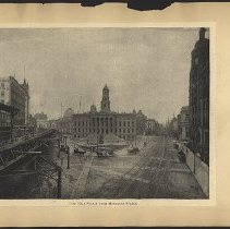 Image of City Hall Square from Montague Street - Eugene L. Armbruster photographs and scrapbooks