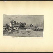 Image of Railroad Station on the Grounds at Bensonhurst  - Eugene L. Armbruster photographs and scrapbooks