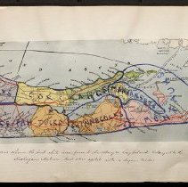 Image of [Map of Native American peoples of eastern Long Island] - Eugene L. Armbruster photographs and scrapbooks