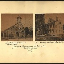 Image of [St. Michael's Roman Catholic Church and house of Capuchin fathers] - Eugene L. Armbruster photographs and scrapbooks