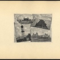 Image of [South Views, Old Iron Pier, Observatory, Brighton Beach Hotel] - Eugene L. Armbruster photographs and scrapbooks