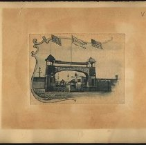 Image of Entrance to the Chutes at Coney Island - Eugene L. Armbruster photographs and scrapbooks