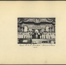 Image of Cast 'H.M.S. Pinafore' Inman's Casino - Eugene L. Armbruster photographs and scrapbooks