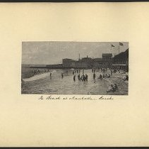 Image of The Beach at Manhattan Beach - Eugene L. Armbruster photographs and scrapbooks