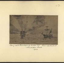 Image of Blowing up the Philadelphia by Decatur - Eugene L. Armbruster photographs and scrapbooks