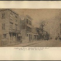 Image of Ashland Place looking toward Fulton Street  - Eugene L. Armbruster photographs and scrapbooks