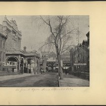 Image of [Grand Opera House and Elevated Station] - Eugene L. Armbruster photographs and scrapbooks