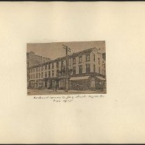 Image of [Northeast corner of Jay Street and Myrtle Avenue] - Eugene L. Armbruster photographs and scrapbooks