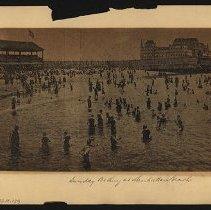 Image of Sunday Bathing at Manhattan Beach - Eugene L. Armbruster photographs and scrapbooks