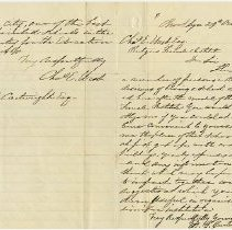 Image of Packer Collegiate Institute records - Letters from David G. Cartwright to Charles E. West