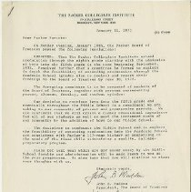 Image of Packer Collegiate Institute records - Letter from John B. Madden (President, The Board of Trustees) and John F. Skillman, Jr. (Packer President) to Packer Parents