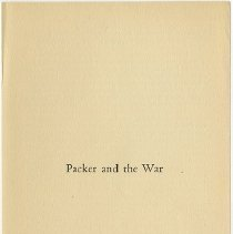 Image of Packer Collegiate Institute records - Packer and the War pamphlet