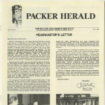Image of Packer Collegiate Institute records - Packer Herald, Vol. IV, No. 1