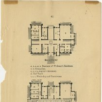 Image of Packer Collegiate Institute records - Floor plans of the Brooklyn Female Academy building