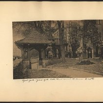 Image of [Gate and yard on 29th St] - Eugene L. Armbruster photographs and scrapbooks