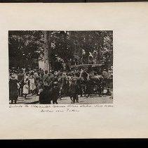 Image of [Crowds outside Alexander Avenue Police station]  - Eugene L. Armbruster photographs and scrapbooks