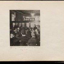 Image of Opening exercises at Subway Tavern  - Eugene L. Armbruster photographs and scrapbooks