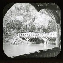 Image of [Ford Bridge viewed from Rustic Shelter, Prospect Park] - Adrian Vanderveer Martense collection